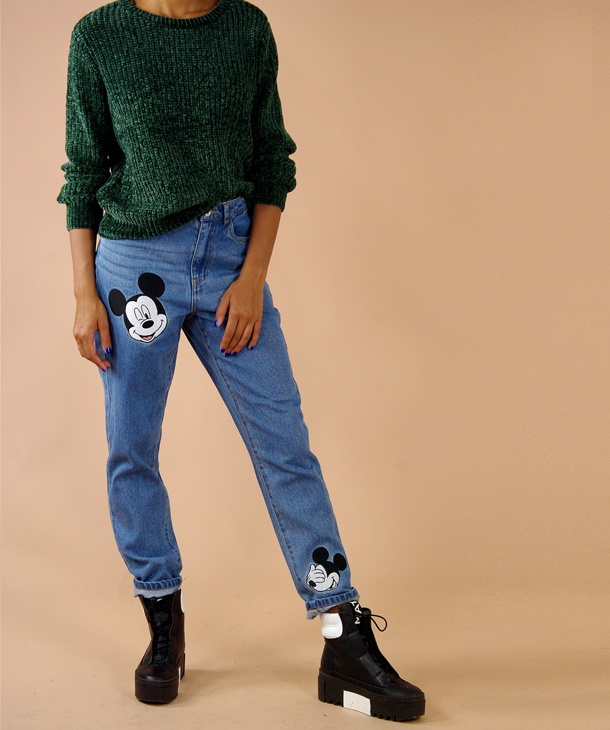 JEANS MOMFIT MICKEY MOUSE ONLY