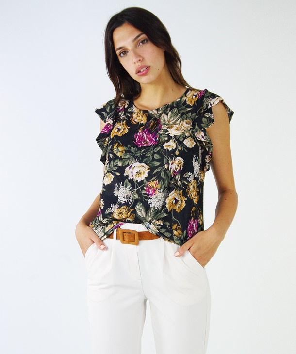 new product 91840 a39a0 BLUSA STAMPA ROSE HOZONE