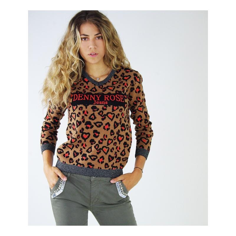 buy popular 427c5 029a0 MAGLIONE JACQUARD DENNY ROSE - Tank Fashion