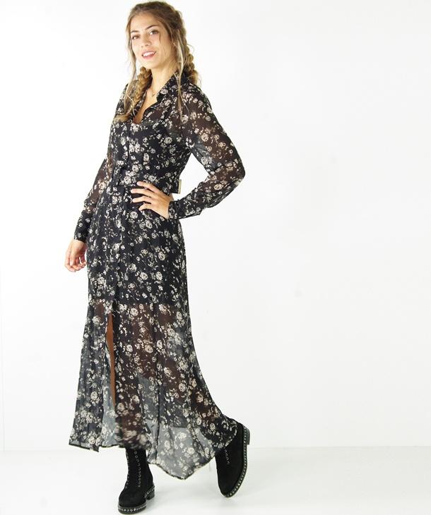 wholesale dealer 413e2 a3ce0 ABITO CHEMISIER LUNGO STAMPA FIORI HOZONE - Tank Fashion
