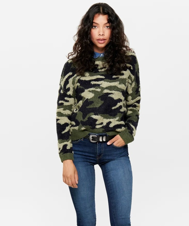 huge selection of 10d96 79554 MAGLIONE CAMOUFLAGE ONLY