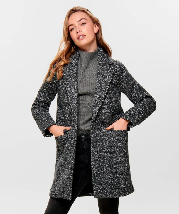 CAPPOTTO IN LANA BOUCLE ONLY