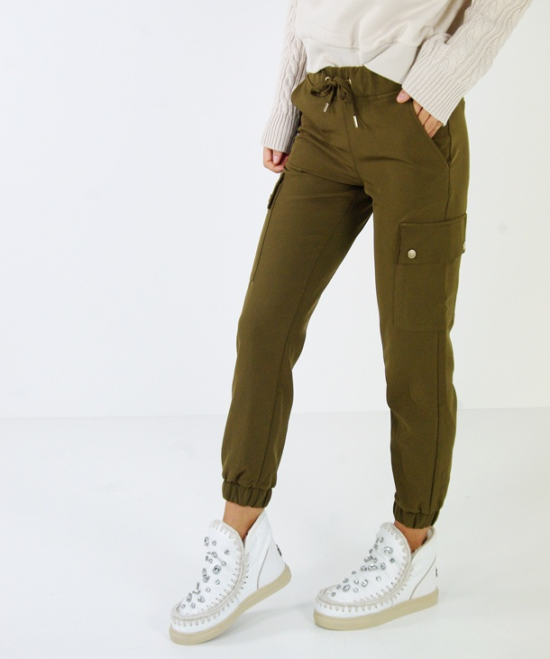PANTALONE CARGO CON COULISSE ONLY