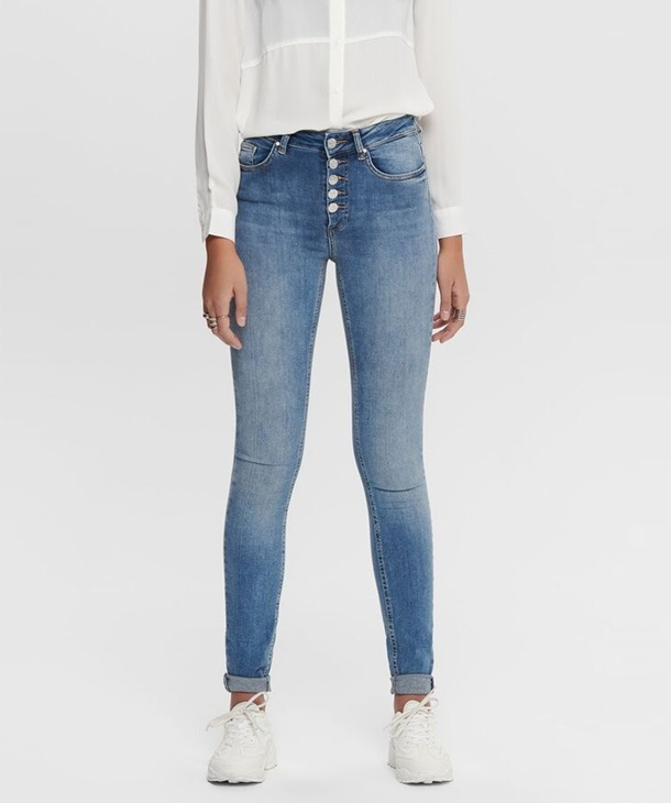 JEANS SKINNY CON BOTTONI ONLY