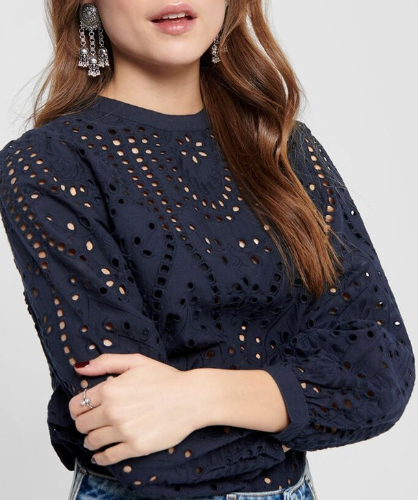 BLUSA IN PIZZO SANGALLO ONLY
