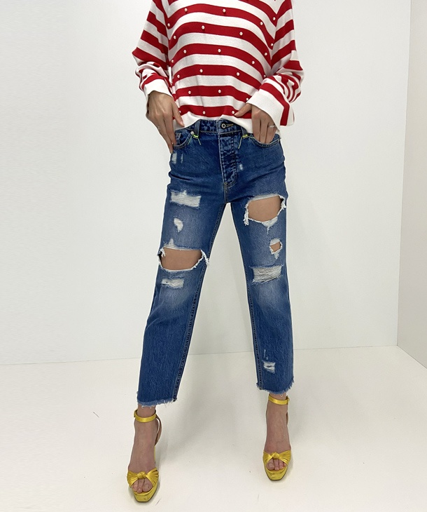 JEANS CON ROTTURE ONLY