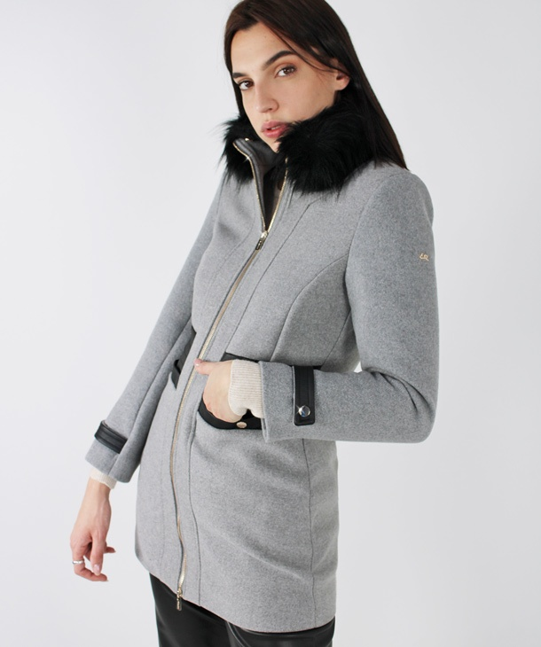 CAPPOTTO CON INSERTI IN ECOPELLE YES°ZEE