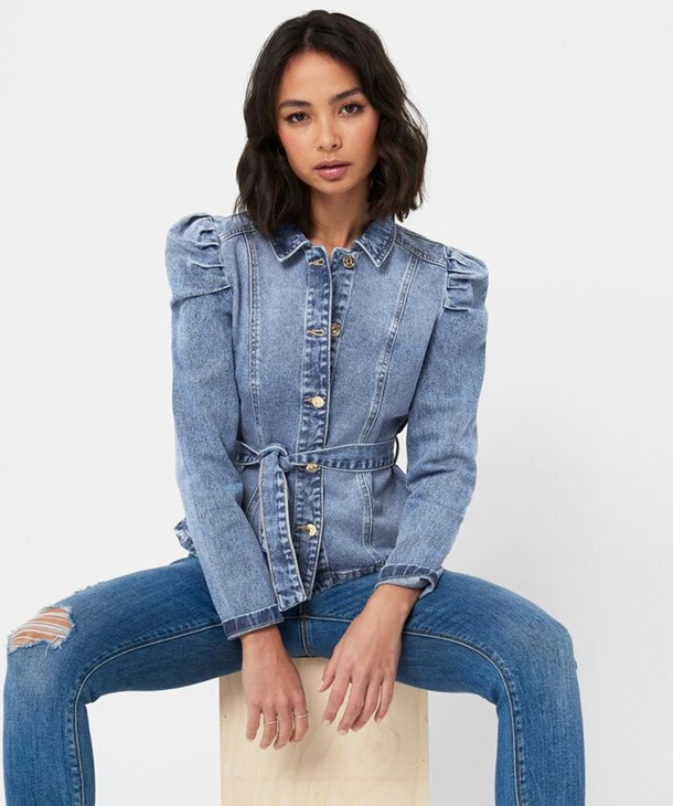 GIACCA DENIM CON MANICA A SBUFFO ONLY