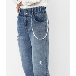 JEANS CARROT ELASTICO IN VITA ONLY