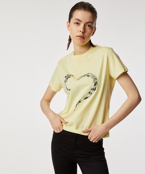 T-SHIRT STAMPA CUORE GAS