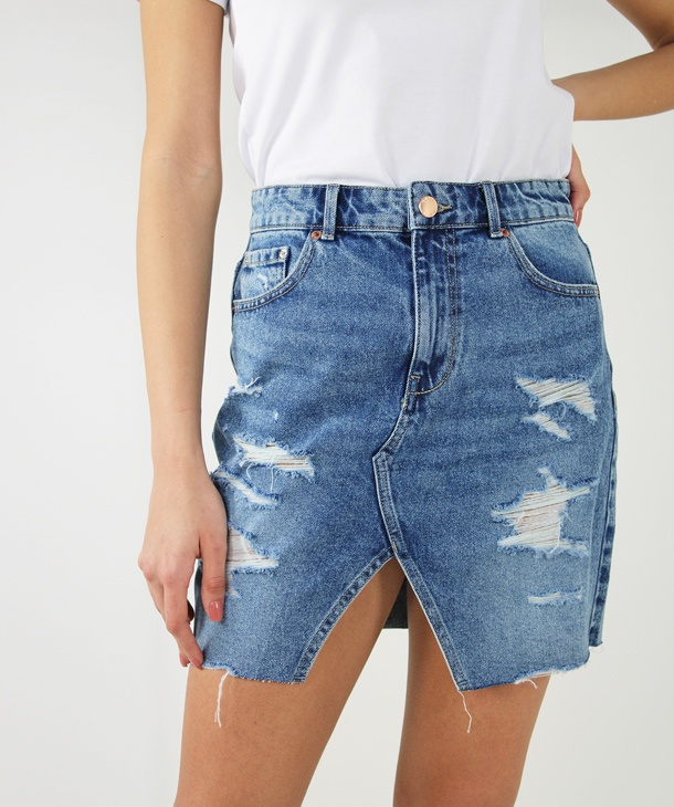 GONNA IN DENIM CON SPACCO ONLY