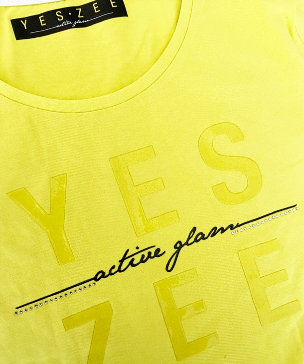 T-SHIRT ACTIVE GLAM LOGO YES.ZEE