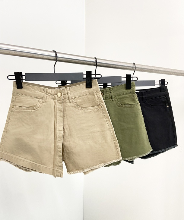 SHORTS IN COTONE CON PANNELLO YES.ZEE