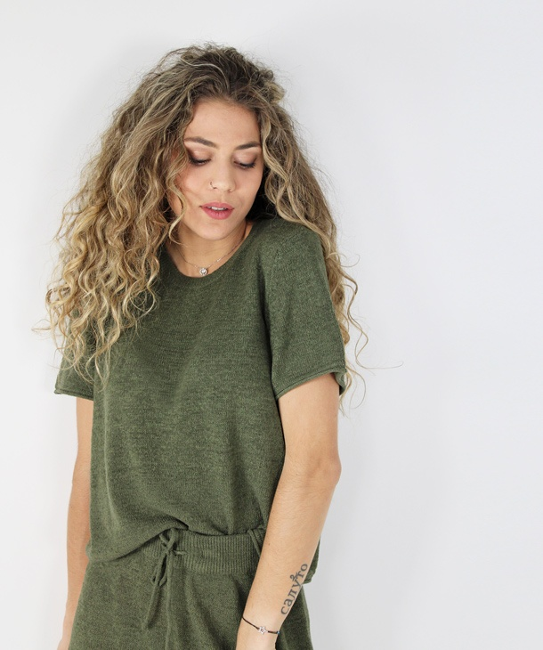 T-SHIRT IN MAGLIA ONLY