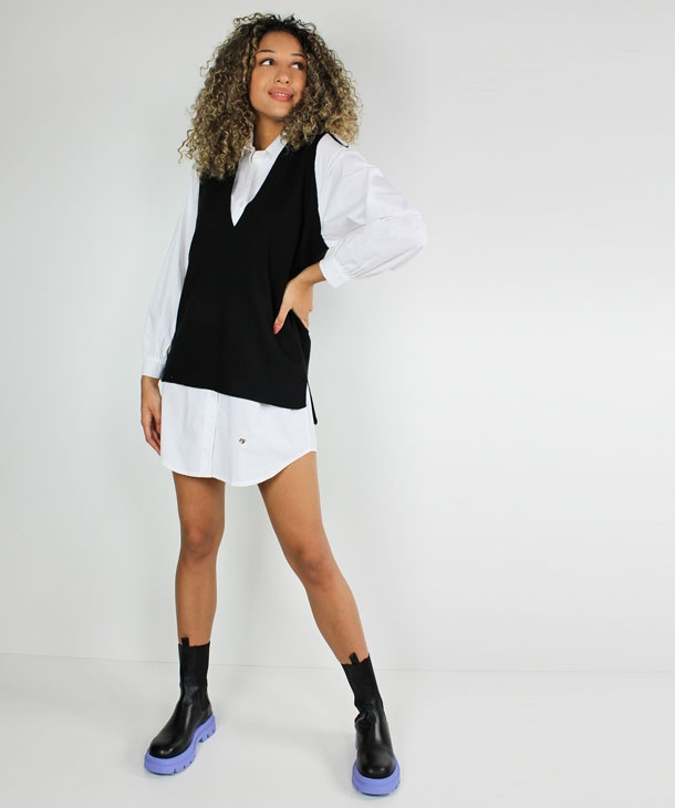 GILET OVER IN MAGLIA ONLY