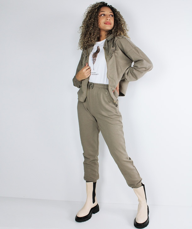PANTALONE IN FELPA CON ROUCHES ONLY